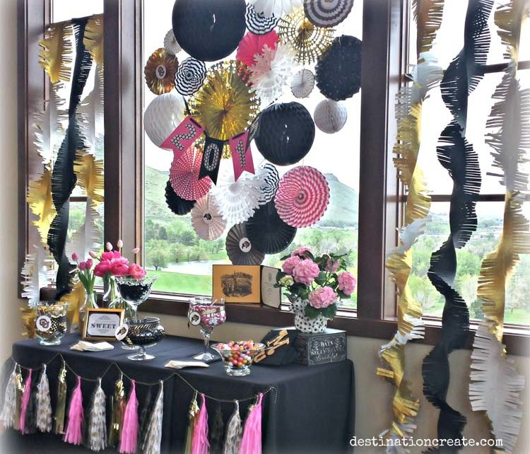 Nothing like a candy buffet to get party guests smiling