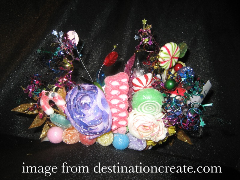 Candy crown side view