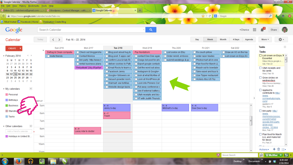 how to show tasks in google calendar