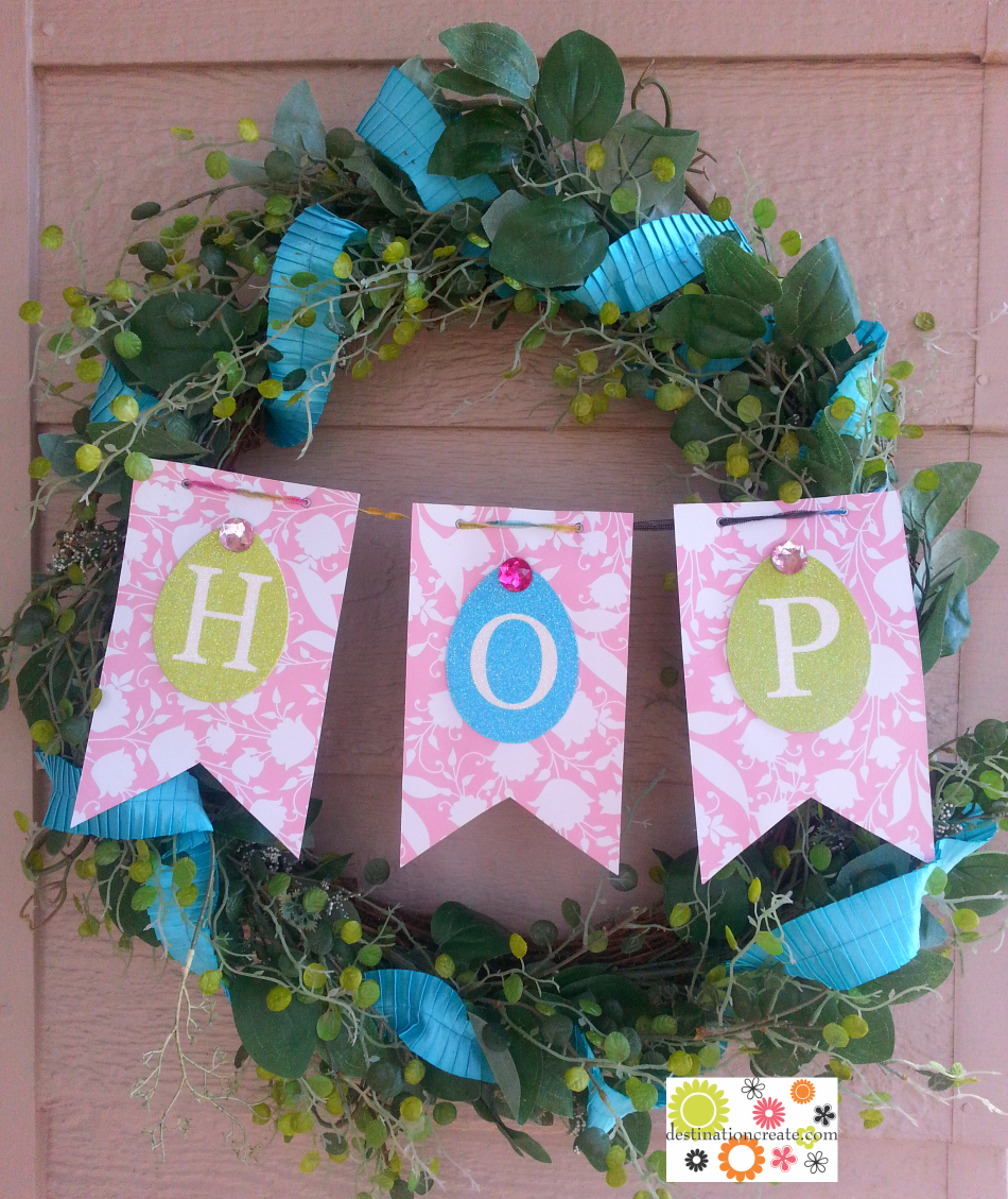 Spring Wreath with Easter banner