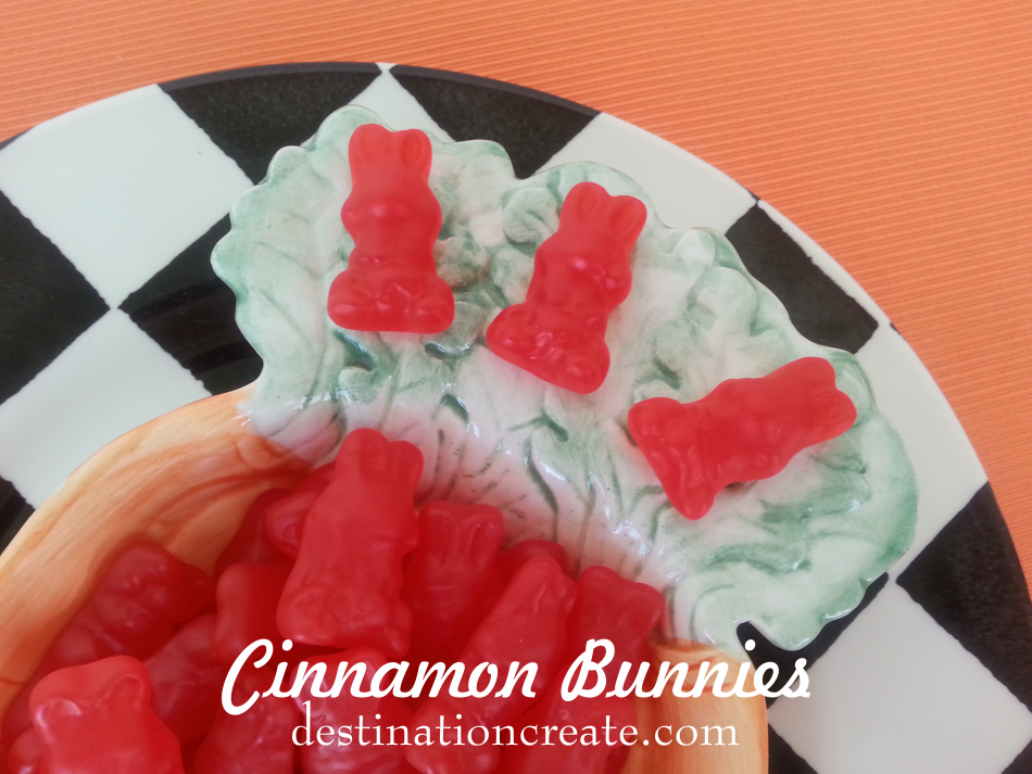 Cinnamon Easter Candy Bunnies
