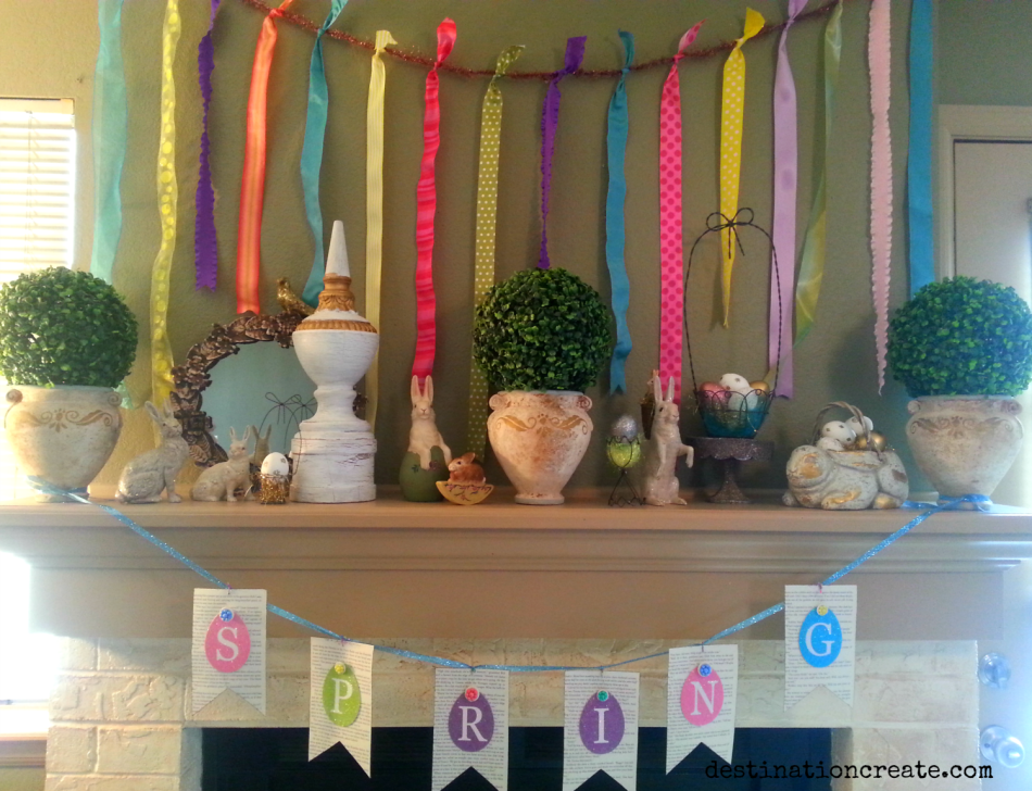 Easter Mantel-Hop into Spring