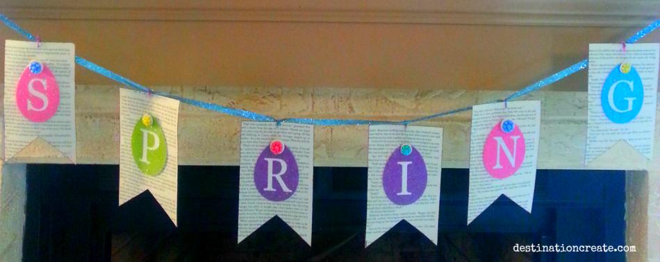 Easter Mantel-Spring banner