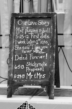 Vintage Wedding Rentals Denver- sandwich board style chalkboard