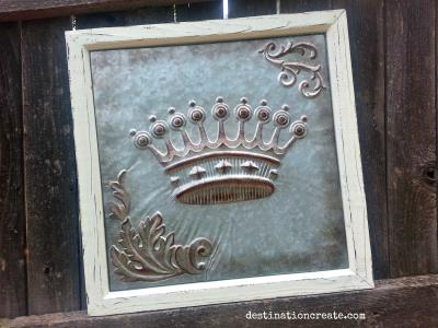 Vintage Wedding Rentals Denver- embossed metal crown sign