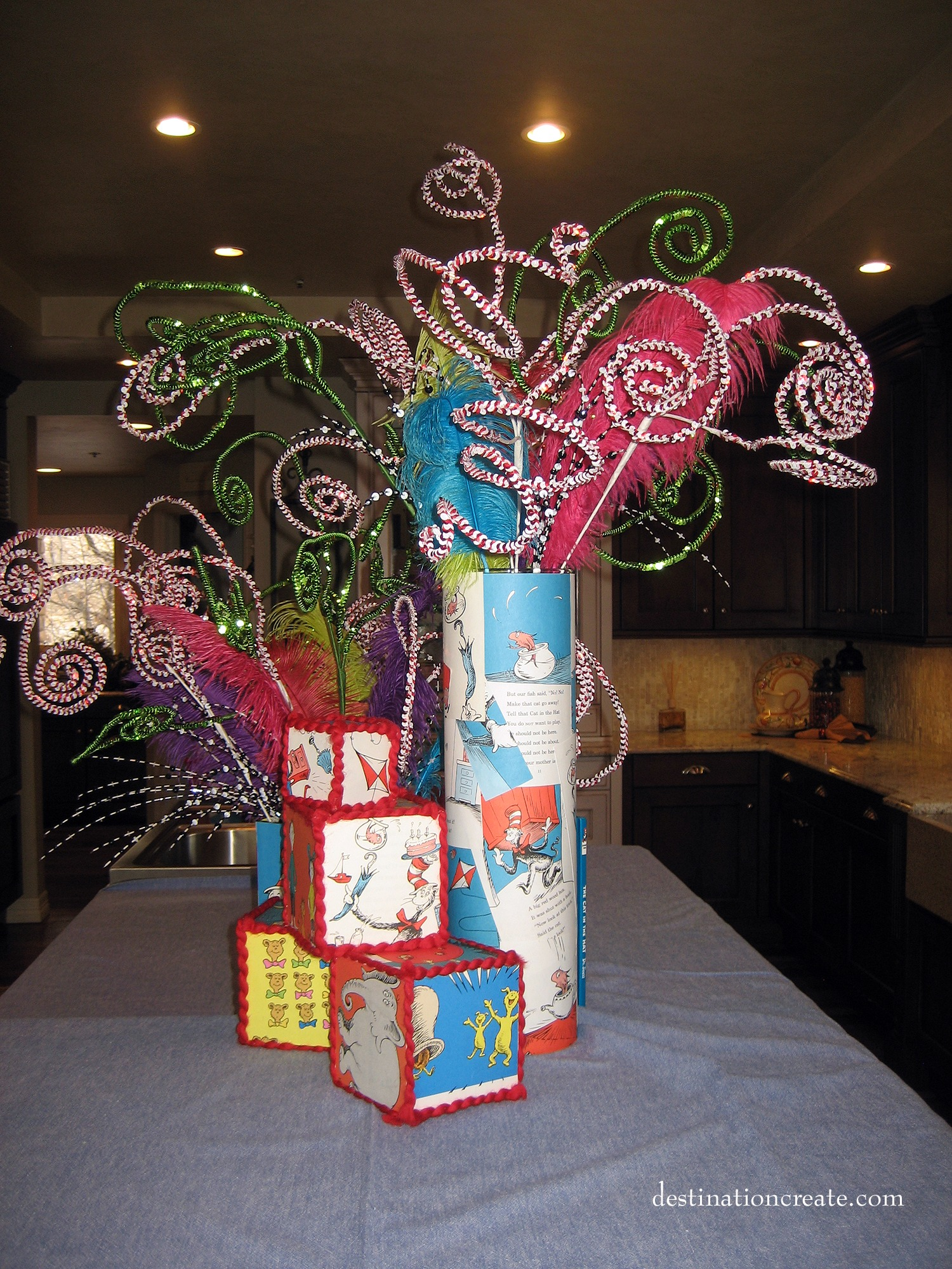 Dr. Suess birthday party decor