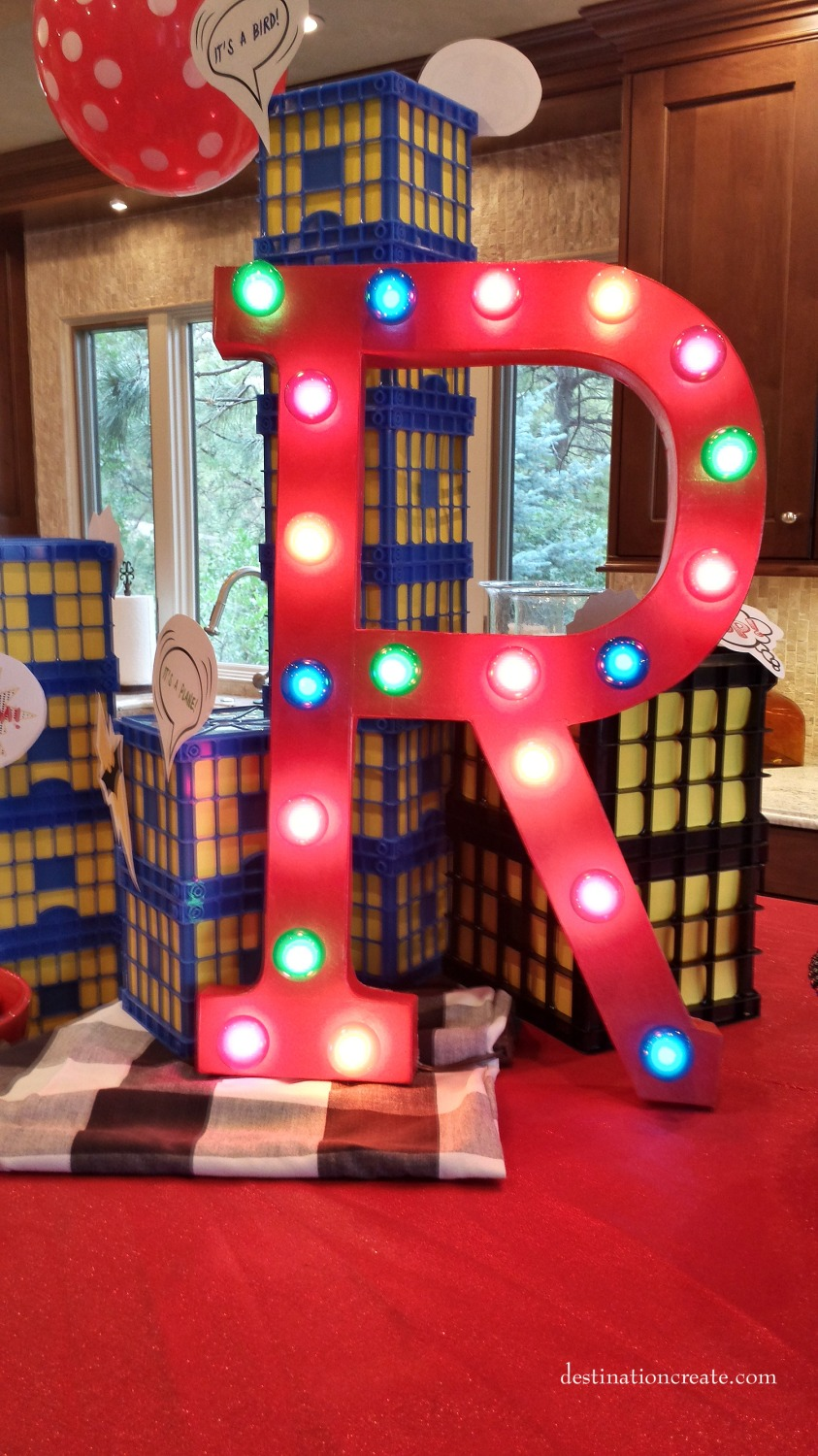 DIY marquee letter- paper mache