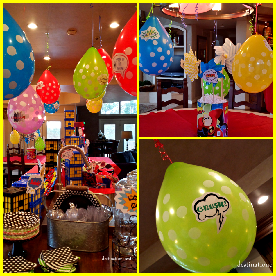 Super Hero Party balloons