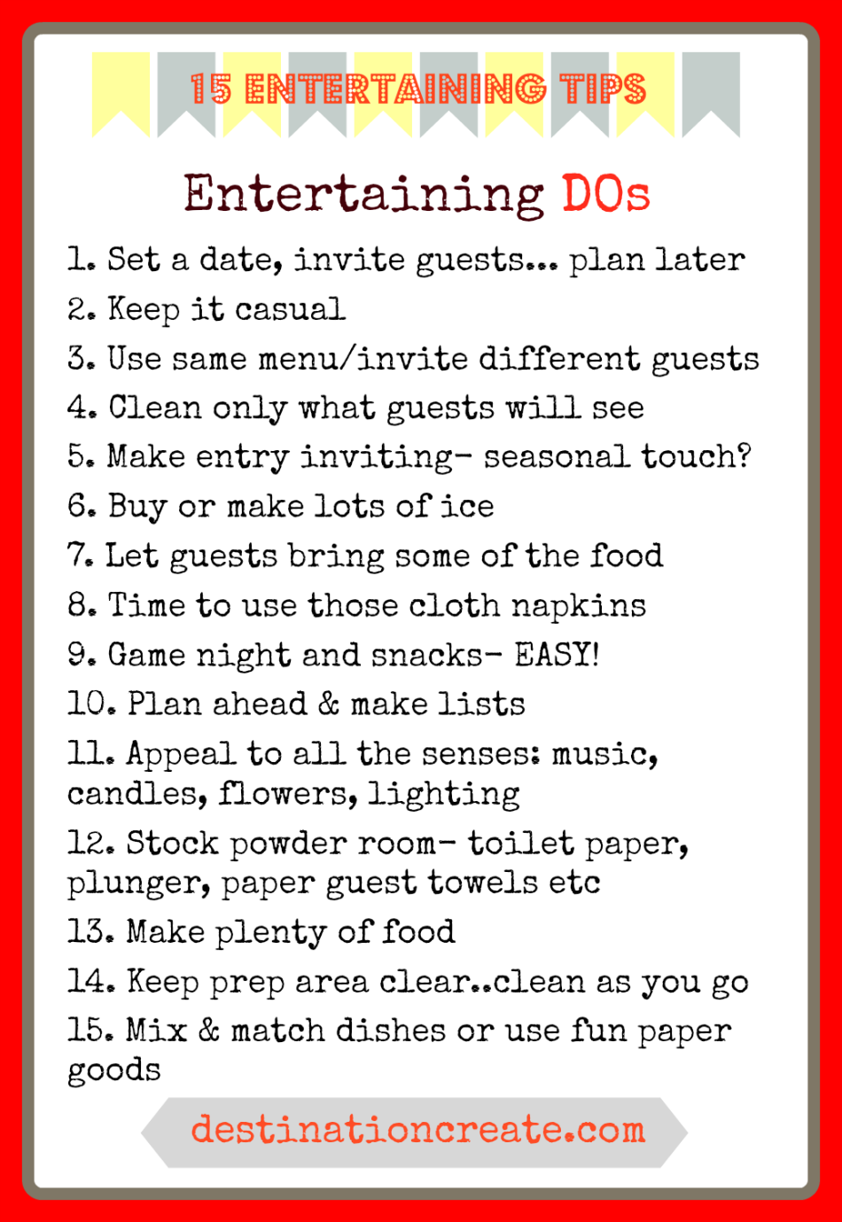 Entertaining Tips: To Do or Not To Do