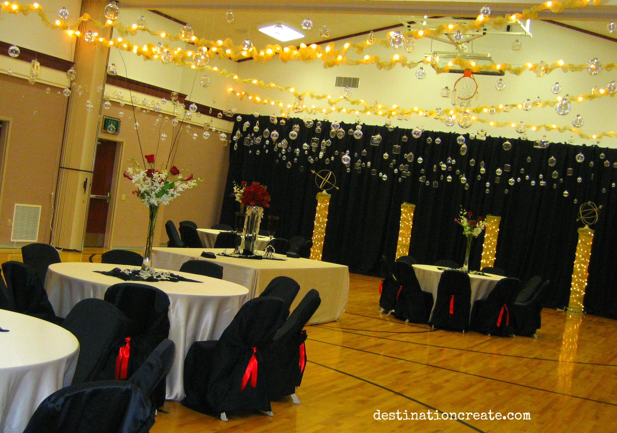 LDS cultural hall decorating Denver: Destination Create specializes in LDS wedding reception decorating, styling, planning & specialty rentals.