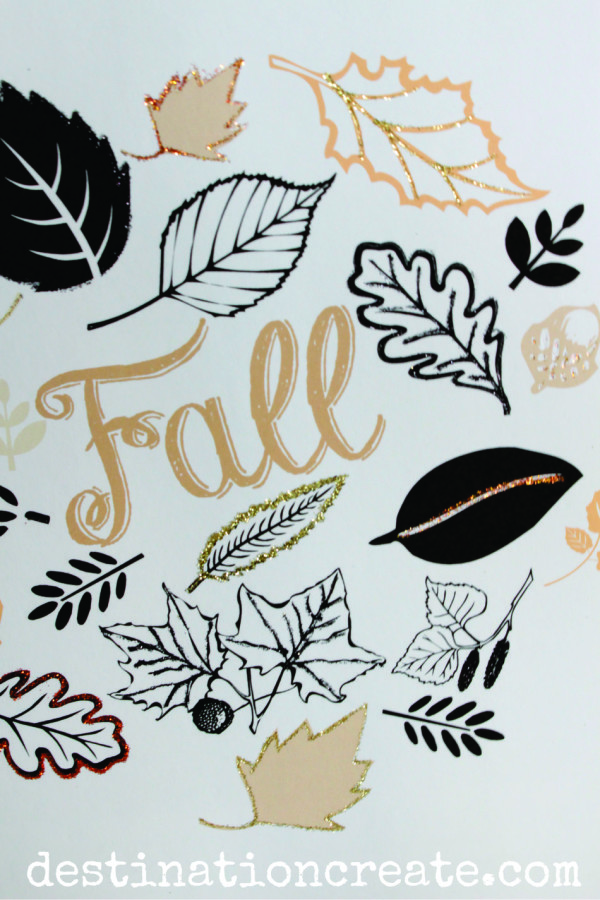 You're going to love this simple and pretty Fall Printable that I've designed for you. It's even prettier when embellished with a little glitter. See the tutorial here: http:// destinationcreate.com/pretty-fall-printable/