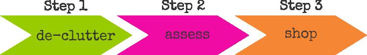 declutter steps